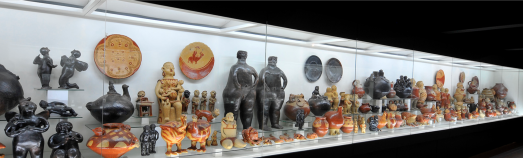 Barro. Ceramics display